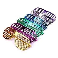 Schramm® 6 Stück Partybrille metallic