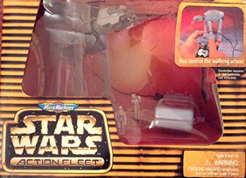 Star Wars Micro Machines Action Fleet Year 1996 Action Vehicles - Remote Control Imperial at-at with Snowtrooper and Imperial Driver Micro Figures