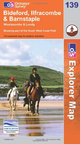 OS Explorer map 139 : Bideford, Ilfracombe & Barnstaple