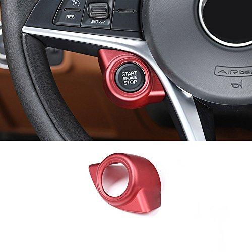 Garniture rouge pour Giulia Stelvio 2017 2018 en plastique ABS pour démarreur, arrêt de moteur, accessoire pour conduite à gauche