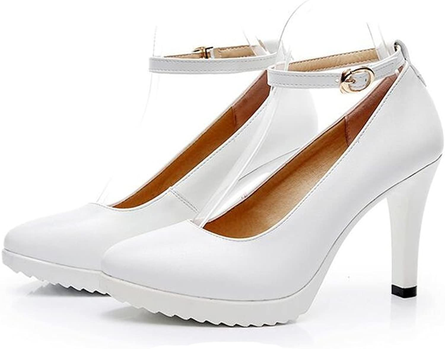 Bon Soir Women's Causal Platform Stiletto Heel High Heels Pumps Work Office shoes