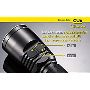 Nitecore CU6 Chameleon Series Primary UV Flashlight (Dual Mode, 440-Lumens)