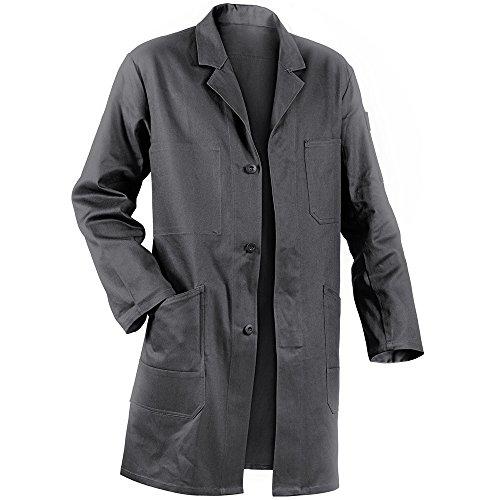 KÜBLER QUALITY DRESS Arbeitsmantel grau, Größe XL, Herren-Arbeitsmantel aus Baumwolle, bequeme Arbeitsmantel von KÜBLER Workwear