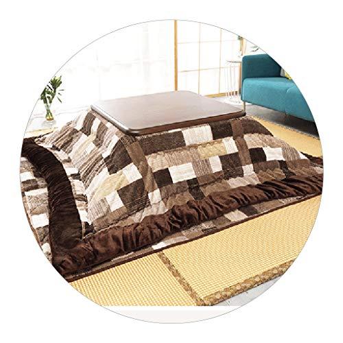 Heiztisch Kotatsu Japanischer Massivholz-Tatami-Couchtisch Kotatsu-Tisch Niedriger Erkerfenster-Tisch Japanischer Ofentisch Nach Hause (Color : Brown, Size : 75 * 75 * 37cm)