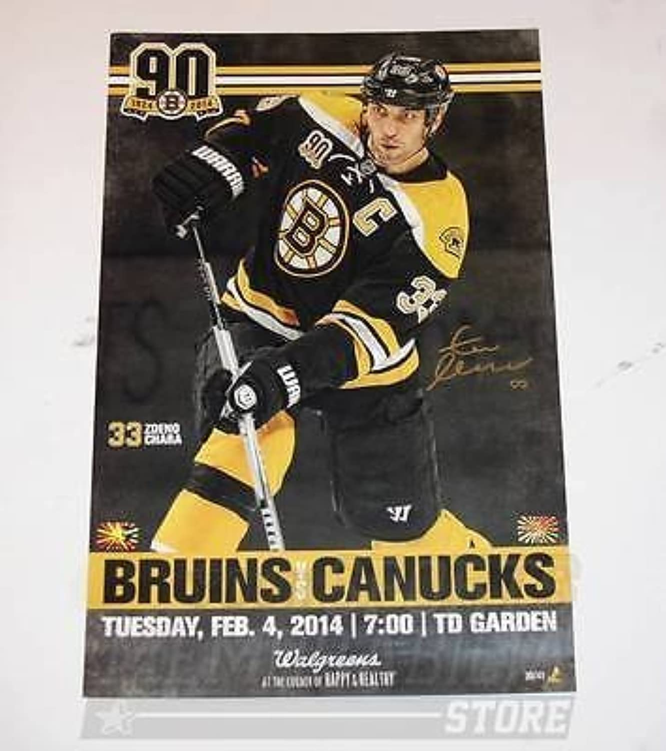 Zdeno Chara Boston Bruins Signed Autographed 90th Game Day Roster Poster 11x17