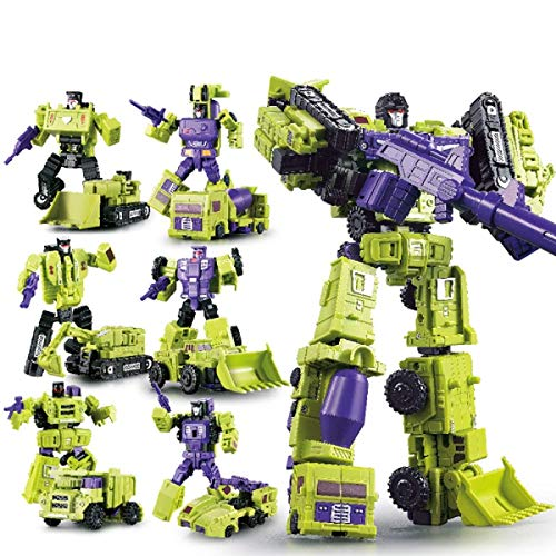 WEIJIANG GT Engineering Devastator Green Combiner 6 in 1 27CM Alloy Metal Toys Action Figure Car Truck Bucket Loader Model Gift for Kids Boys (Green)