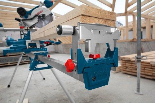Bosch Professional Arbeitstisch für Kapp- und Gehrungssägen GTA 3800 (inkl. Maschinenhalter, Schraubschlüssel, Werkstückauflagen) - 2
