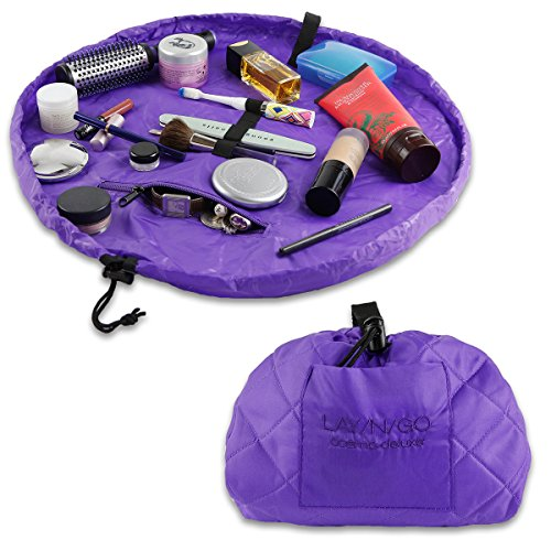 "Lay-n-Go Cosmo Deluxe (22"") Cosmetic Bag, Purple"