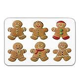 LIS HOME Lebkuchen-Mann-Haustür-Matte, klare selbst gemachte Kekse zuckerhaltige...