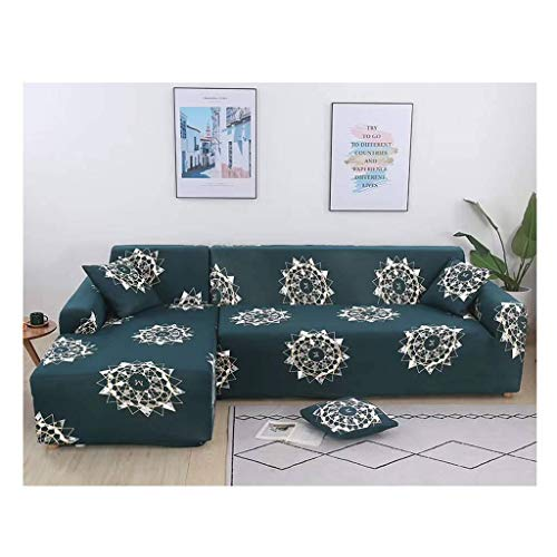 JHLD Stretch Sofa Cover, Modern Printed Couch Cover Elastic Furniture Protector Washable Sofa Slipcover For L Shape 3Seat-BJ-3Seat 190-220CM(75-87in)