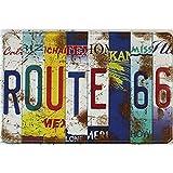 Froy 66 Route Segno Mur Tôle Signe Rétro Fer Affiche Peinture Plaque Tôle Vintage Art Personnalisé Créativité Décoration Artisanat pour Café Bar Garage Maison