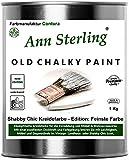 1Kg. Kreidefarbe Shabby Chic'Feinste Farbe' Ann Sterling für Innen und Außen Möbellack...
