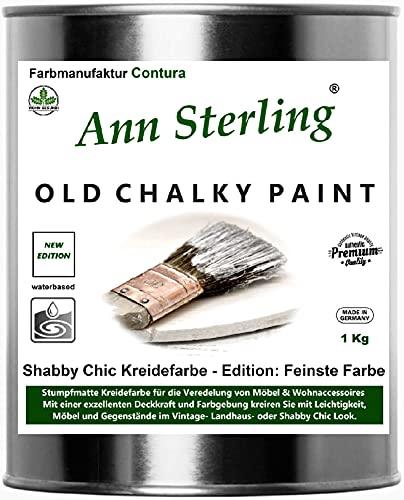 Ann Sterling Kreidefarbe Shabby Chic Farbe: Oldwhite/Altweiß 750ml. / ca. 1Kg. Lack Chalky Paint