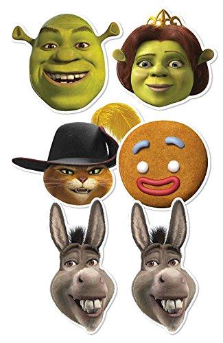 Star Cutouts Silhouette smp353 Shrek Masque en Carton (Lot de 6)