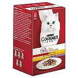 Gourmet Mon Petit Cat Food Pouches Duo Meat, 6x50g