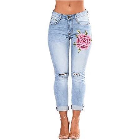 Mesdames Plain Skinny Jeggings Coloré Denim Pantalon Jeans Stretch Pantalon Poches