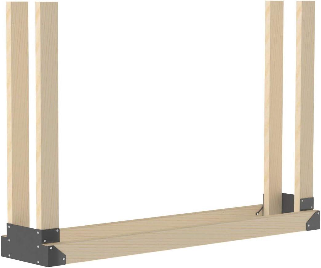 34 Piece Universal overseas Outdoor Firewood Bracket Kit Finally resale start Log Storage Rack