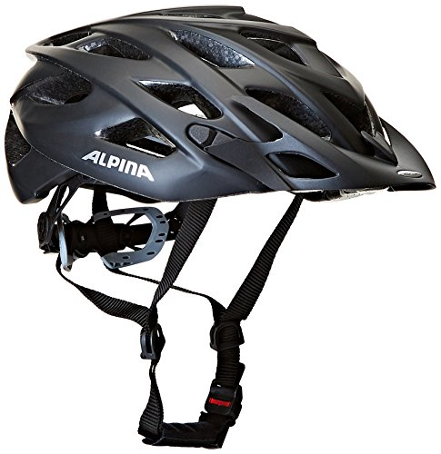 ALPINA Unisex - Erwachsene, D-ALTO L.E. Fahrradhelm, black matt, 52-57 cm