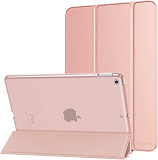 "MoKo Case Fit New iPad 7th Generation 10.2"" 2019 / iPad 10.2 Case - Slim Lightweight Smart Shell Stand Cover with Translucent Frosted Back Protector for iPad 10.2 2019, Rose Gold(Auto Wake/Sleep)"