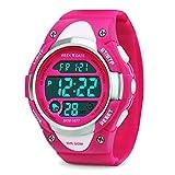 Reloj digital infantil, deportivo, impermeable, para exteriores, con alarma, cronómetro, LED,...