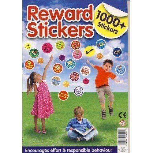 2 X 1000 James Labels Supplies Tableau des récompenses Smiley-Autocollants
