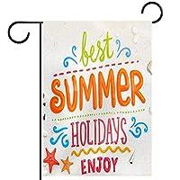 ガーデンフラッグ縦型両面 12x18in 庭の屋外装飾.貝殻アンカーヒトデビーチと夏