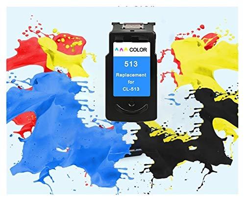 WXJ Compatible PG512 CL513 for Canon pg 512 del Cartucho 513 de Tinta cl for Pixma MP230 MP250 MP240 MP270 MP480 MX350 iP2700 Impresora pg-512 (Color : 1pcs 513XL Color)