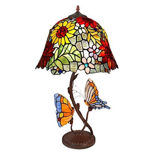 World Art TW60493 Lampes Style Tiffany, Multicolore, 68x41x41 Cm