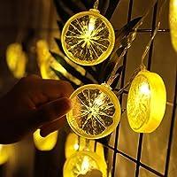 ラブストーリー クリスマスライト、10LEDフェアリーオレンジレモンLEDが点灯し、ウィンドウ家族の収集のための童話ガーランドストリングライト 芝生 (Color : Yellow)