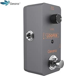 Getaria Electric Guitar Looper Effects Pedal Bybass Unlimited Overdubs Loop Station (Mini loop-8)