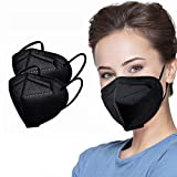 Black 5 Layer Disposable Face Masks Filter Safety Face Mask Protection...
