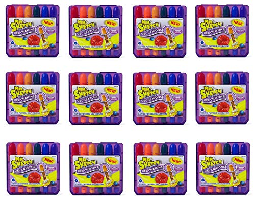 Mr. Sketch 1951332 Scented Twistable Gel Crayons, Assorted Colors, 12 Pack of 6 Crayons, 72 Crayons Total
