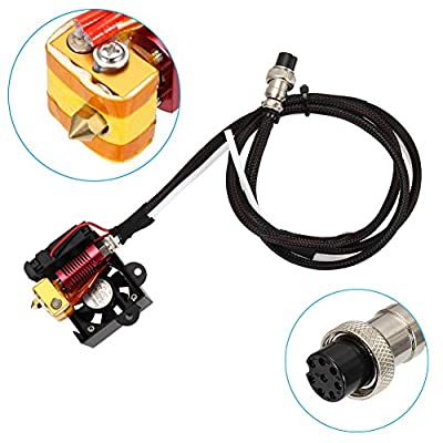 Starall 3D Printer Hot End Assembled Extruder 0.4mm Nozzle MK8 Extruder Kit for Creality CR-10