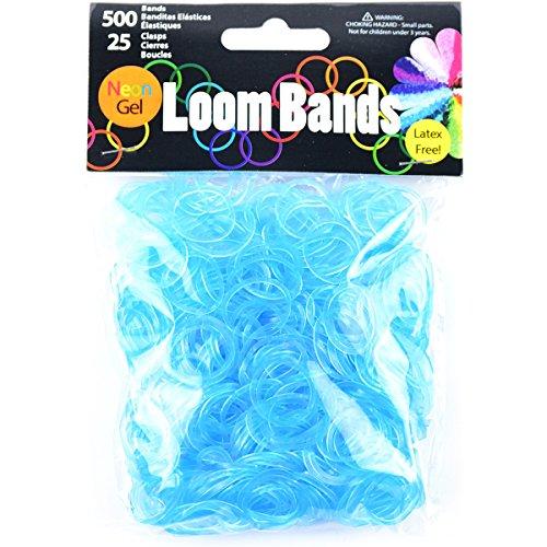 Touch of Nature Lot de 500 Bracelets en Gel Fluo Turquoise 25 fermoirs en Plastique
