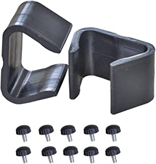 Rattaner 12Pcs Outdoor Patio Furniture Fastener Clips - Wicker Rattan Sectional Sofa Couch Clamps Connectors-non slip-(M)