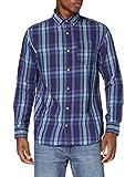 Jack & Jones JJBYRON Shirt LS Camisa, Dark Azul Denim, M para Hombre