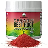 Organic Beet Root Powder - Highest Quality Super Food Beets Juice Powder. 100% Pure Organic Nitric Oxide Boosting...