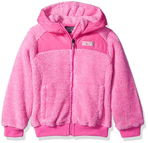 32 DEGREES Weatherproof Little Girls' Outerwear Jacket (More Styles Available), Two Toned-WG198-Fuchsia, 5/6