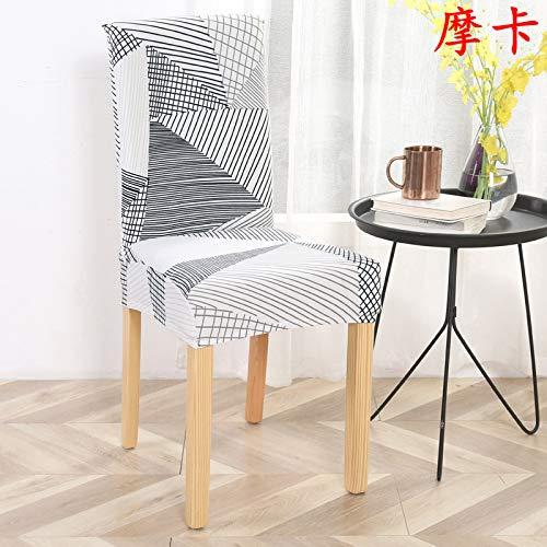 YUXING Stuhlhusse, dehnbar, einfarbig, minimalistisch, modern, Hocker, Sets für Hotels, Mokka, Common