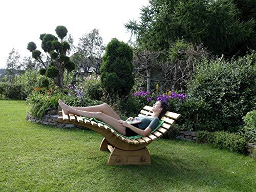 Relaxliege, Saunaliege, Holzliege, Wellnessliege, Funktionsliege, Gartenliege