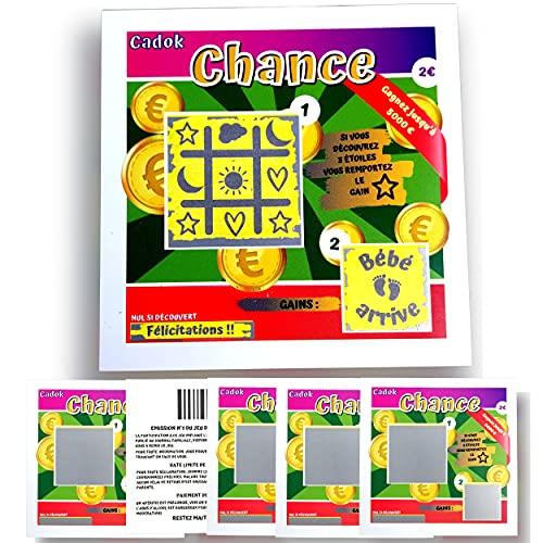 Jeux Ticket Carte à gratter 10 * 10 cm Papier 300 grs/m² Gagnant Annonce Grossesse Naissance...