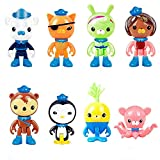 8 Pcs Octonauts Cake Topper Decorations Children Mini Toys Peso Kwazii Captain Barnacles Cupcake Toppers for Birthday Party Supplies