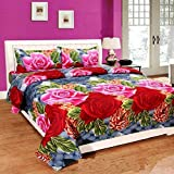 PRIDHI 180Tc Imported Glace Cotton Abstract Double Bedsheet with 2 Pillow Cover ( Multicolour ,...