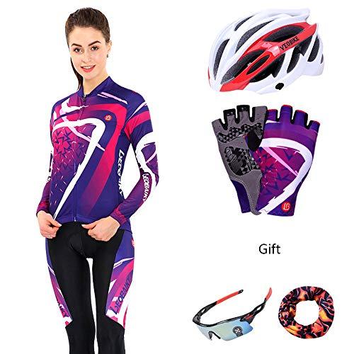 NBZH Ciclismo Jersey Set Pantalones de Manga Larga Combo Conjunto Ciclismo Ropa...