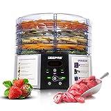 Geepas 520W Digital Food Dehydrator – Food Dryer with 5 Large Trays, Adjustable