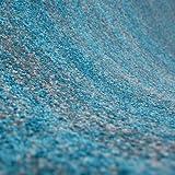 Teppich Kurzflor Wohnzimmer Meliert Mehrfarbig Beige Braun Türkis Grau Blau Türkis Grau Rosa Grün Pflegeleicht Robust Qualität 80×150 cm - 2