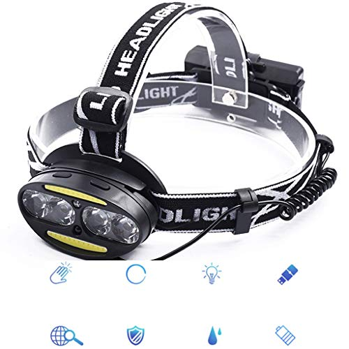 LED Sensor Scheinwerfer Blendung Wiederaufladbare Wasserdichte Zubehör Lampe Doppel Lampe Angeln Lampe Taschenlampe Camping Licht