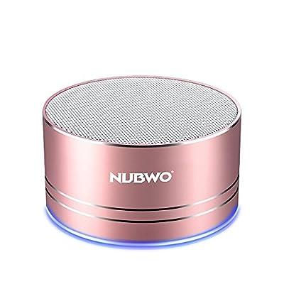 NUBWO Mini Wireless Bluetooth Speaker Portable - Rose Gold by NUBWO