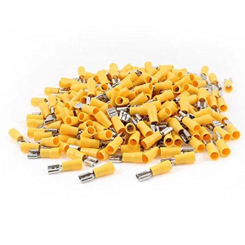 FDD5.5-250 - Terminales de crimpadora de horquilla preaislados para AWG 12-10, 500 unidades