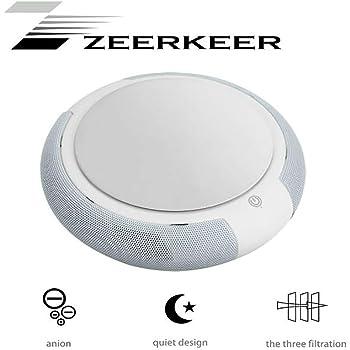 Amazon.es: ZEERKEER Purificador del Aire de Coche con Filtro HEPA, Mini Portátil Purificador para Coche Elimina Polvo, Pollen, Humo, Bacterias, Olores, Purificador ...